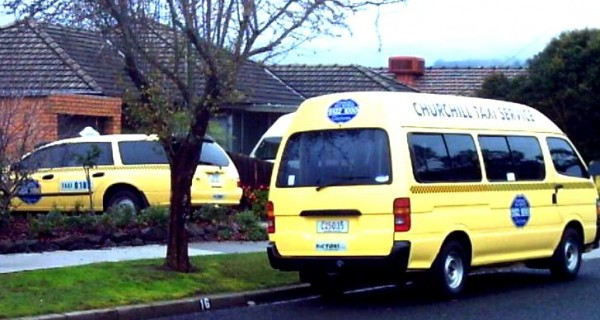 Taxi and van
